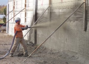 Guniting or Shotcrete